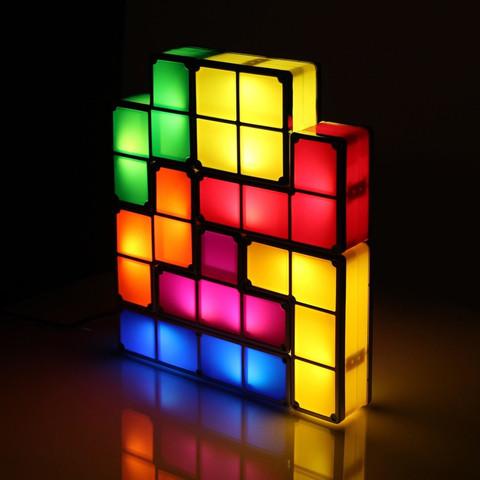 Cliquez ici pour acheter Tetris Desk Lamp