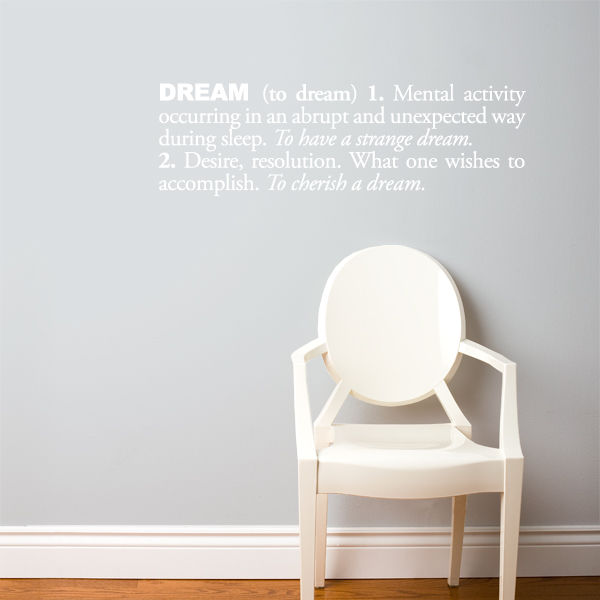Cliquez ici pour acheter Dream Wall Decal