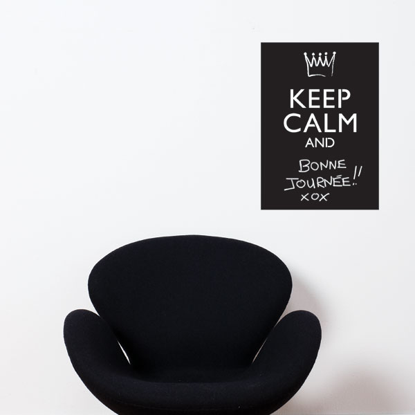 Cliquez ici pour acheter Keep Calm And… Blackboard Wall Decal
