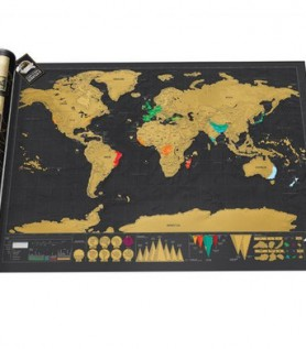 Deluxe Scratch Map of the World (Travel)