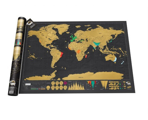 Cliquez ici pour acheter Deluxe Scratch Map of the World (Travel)