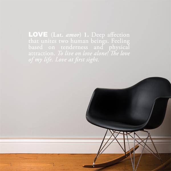 Cliquez ici pour acheter Love Wall Decal