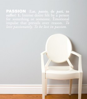 Passion Wall Decal
