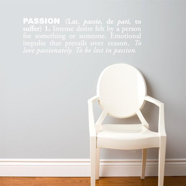Cliquez ici pour acheter Passion Wall Decal