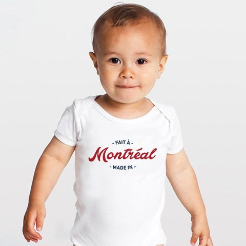 Cliquez ici pour acheter Made in Montreal Baby Onesie