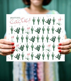 Multiple Cacti Poster