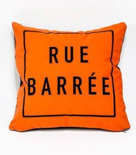 Rue Barrée Pillow