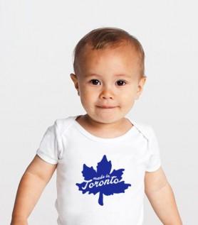 Toronto Leaf Baby Onesie