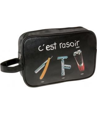 """Cliquez ici pour acheter """"C'est rasoir"""" Toiletries Case"""
