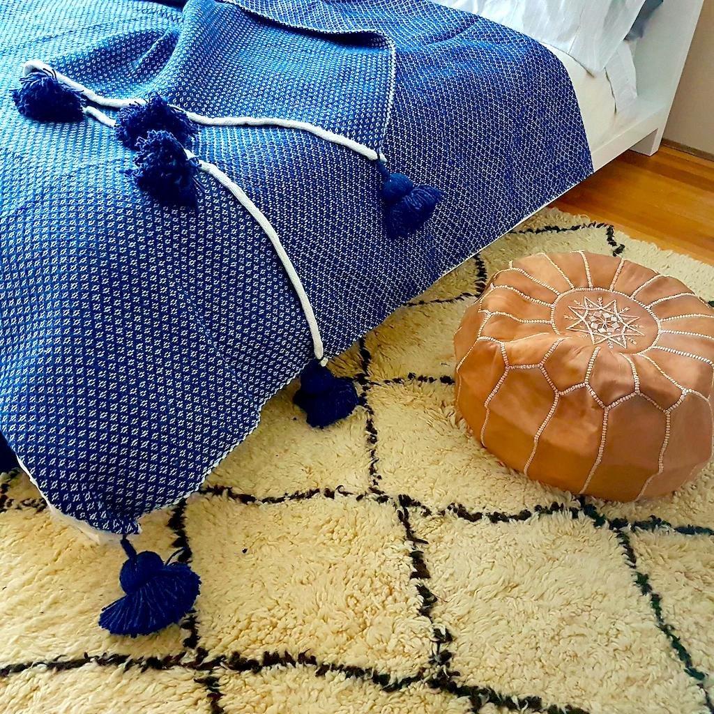 Cliquez ici pour acheter Cotton Pom Pom Blanket