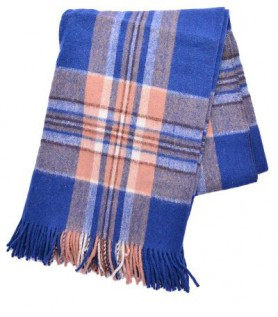 Tartan Alpaca and Sheep Wool Blanket
