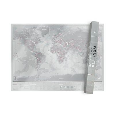 Cliquez ici pour acheter Platinum Scratch World Map