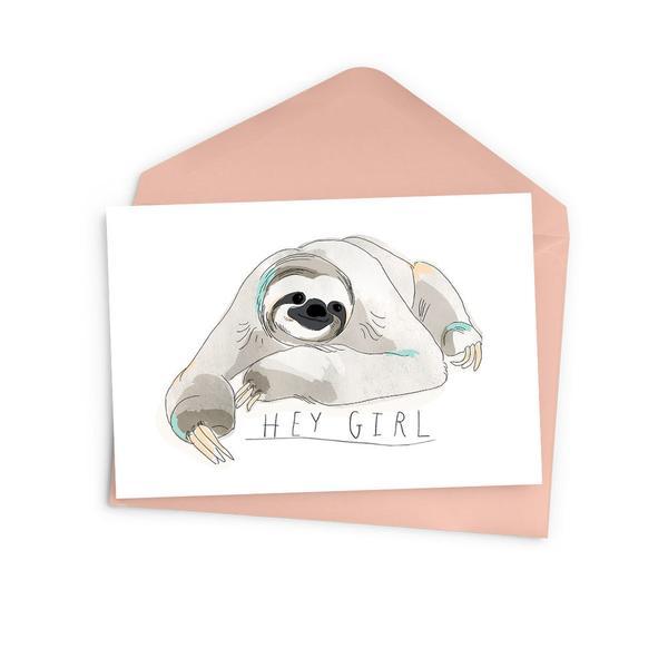 Cliquez ici pour acheter Hey Girl Sloth Card