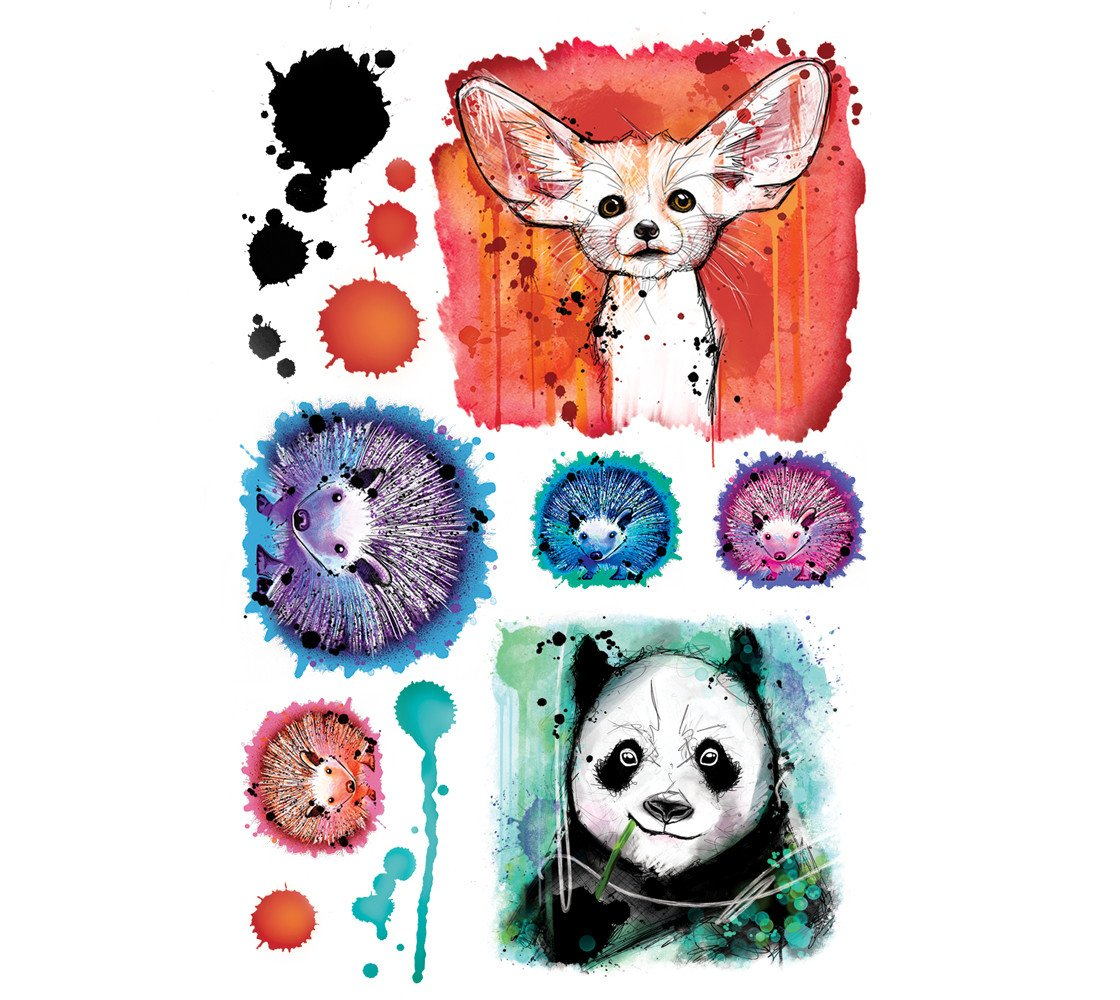 Cliquez ici pour acheter Animal Temporary Tattoos by Julie L'Ecuyer
