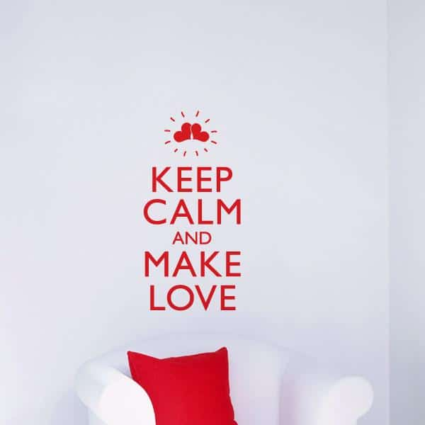 Cliquez ici pour acheter Make Love Wall Decal