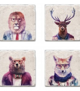 Sophisticated beasts coaster set