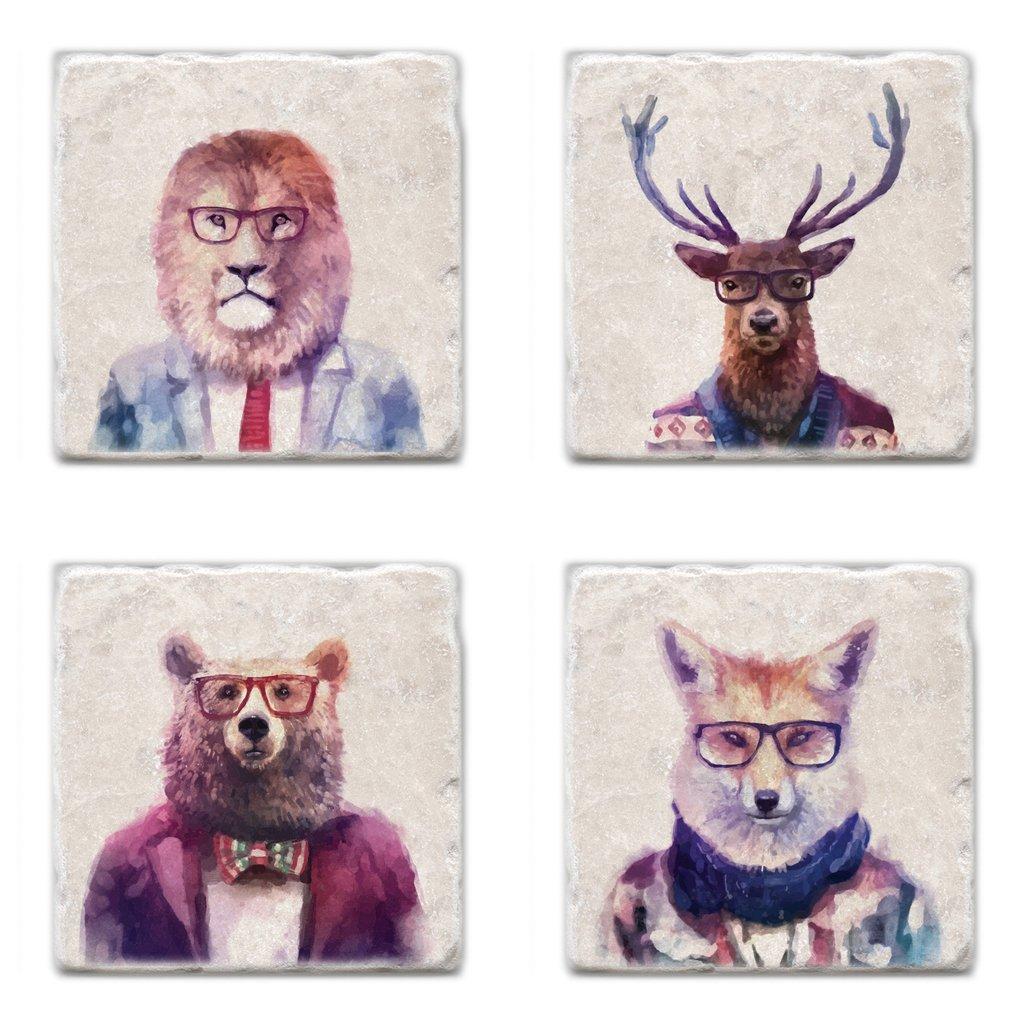 Cliquez ici pour acheter Sophisticated beasts coaster set