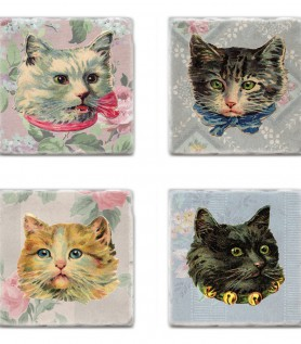 Fancy ass cats – Coaster set