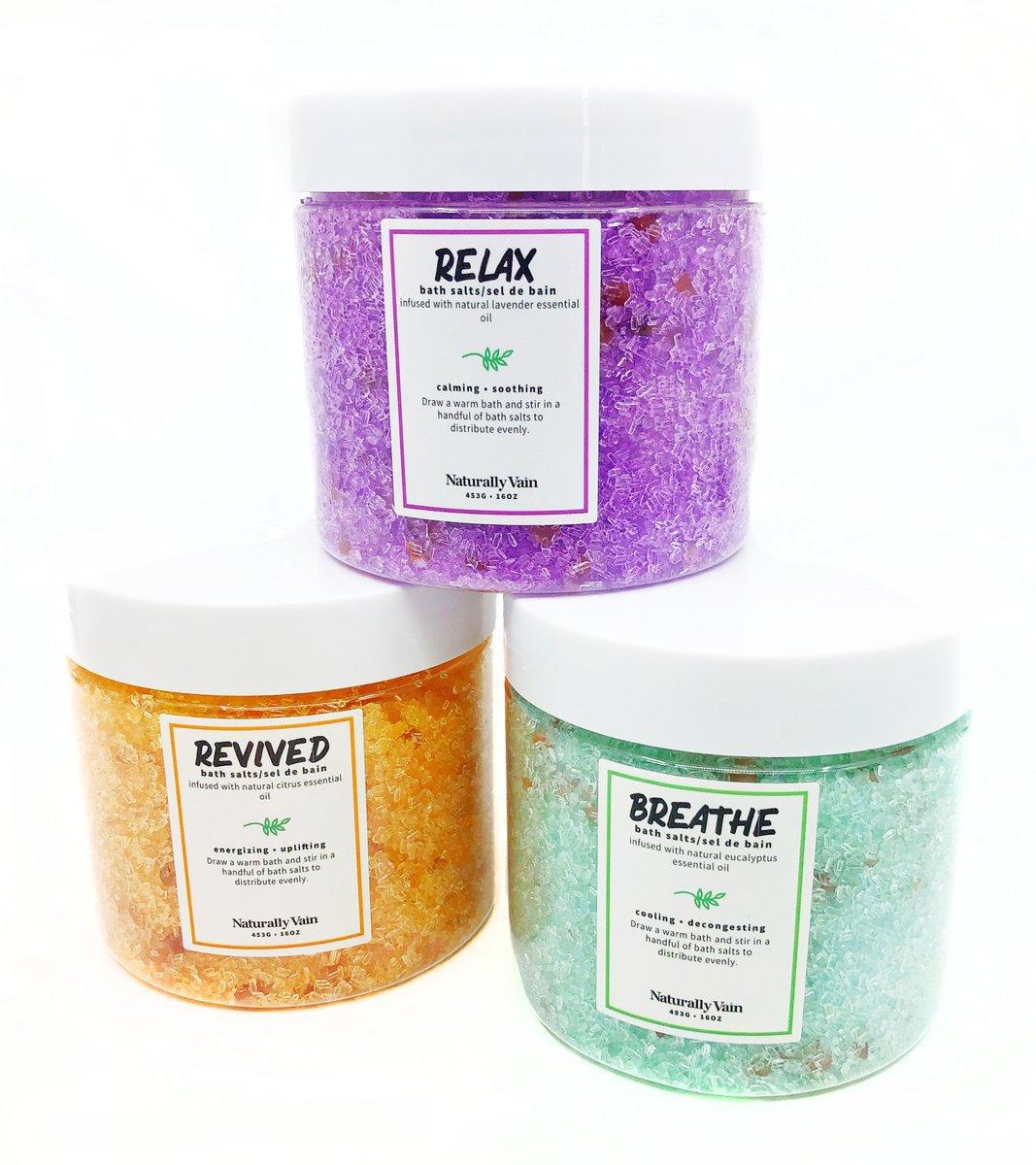 Cliquez ici pour acheter Set of 3 bath salts