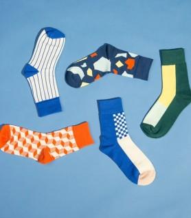 Geometric work week sock pack