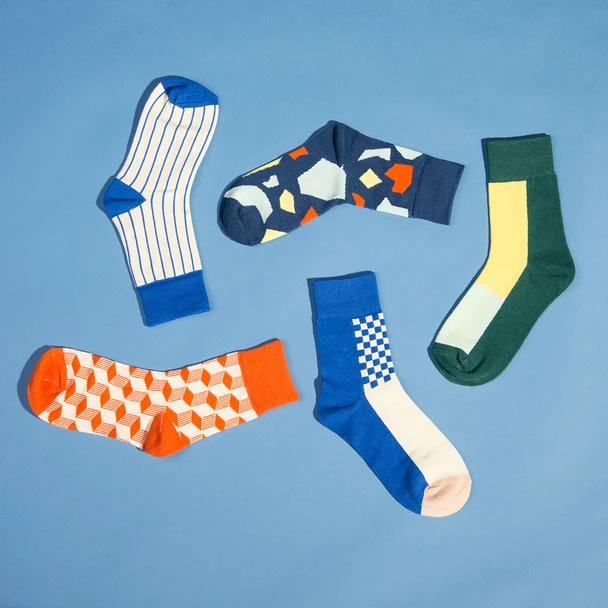 Cliquez ici pour acheter Geometric work week sock pack
