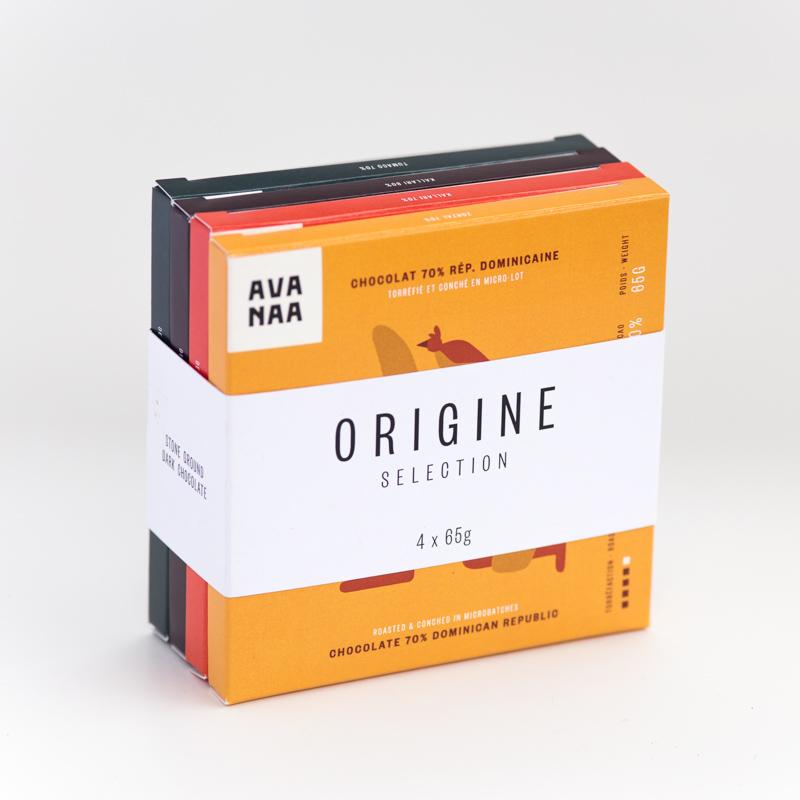 Cliquez ici pour acheter Origin – 4 chocolate bars