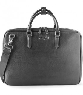 Leather laptop bag – Black