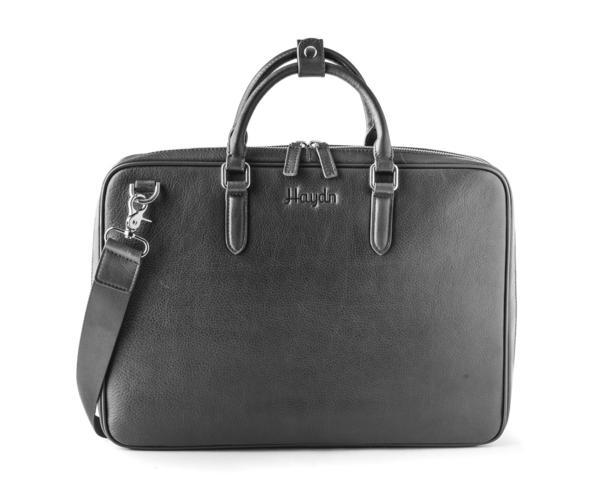Cliquez ici pour acheter Leather laptop bag – Black