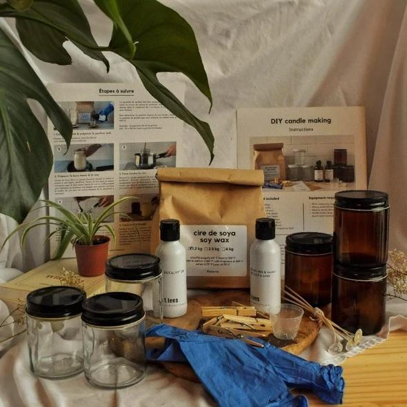 Cliquez ici pour acheter Soy wax candles DIY Kit