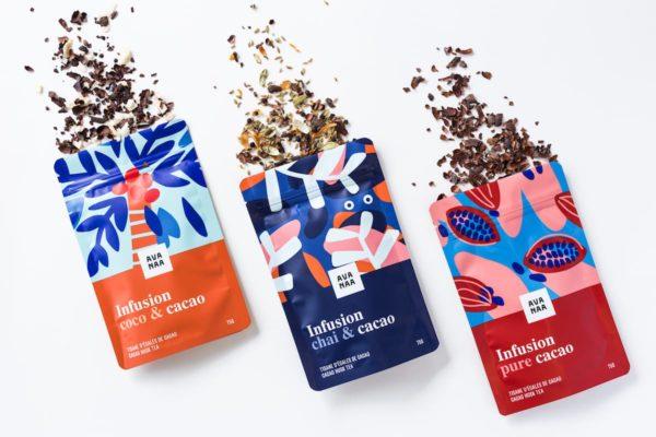 Cliquez ici pour acheter Trio of cacao husk tea