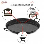 Click here to enlarge the image!genuine-paella-pan-infographic