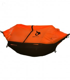 Orange hybrid tent-hammock for 2