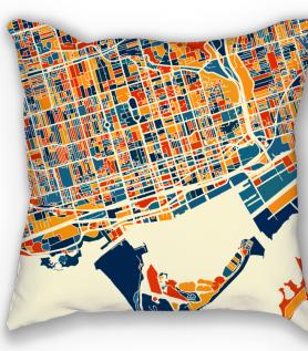Toronto map pillow