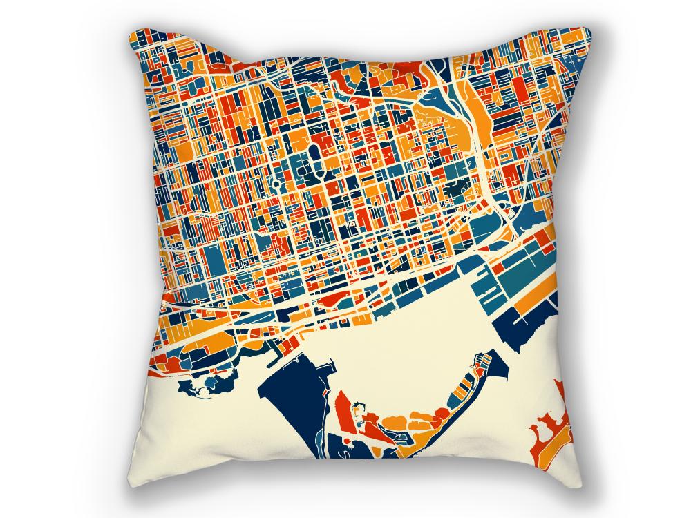 Cliquez ici pour acheter Toronto map pillow