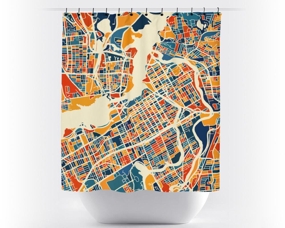 Cliquez ici pour acheter Map shower curtain