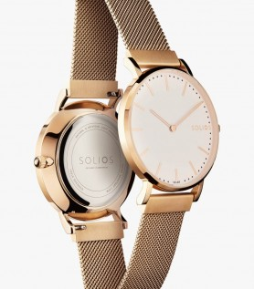 Rose gold Solar Watch