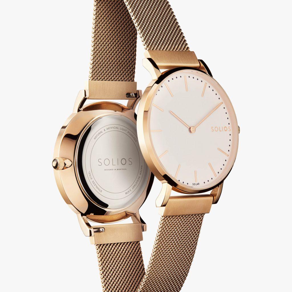 Cliquez ici pour acheter Rose gold Solar Watch